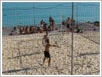 Beach volleyball (Volleyball is one of the many beach activities in Nice)