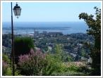 Sea view from Mougins old town, France